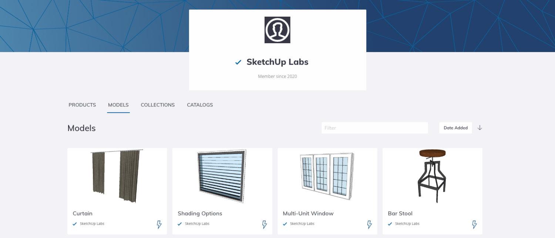 Home Page de SketchUp Labs