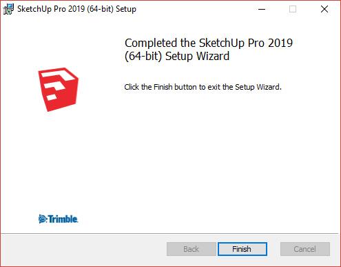 Windows set up wizard finish